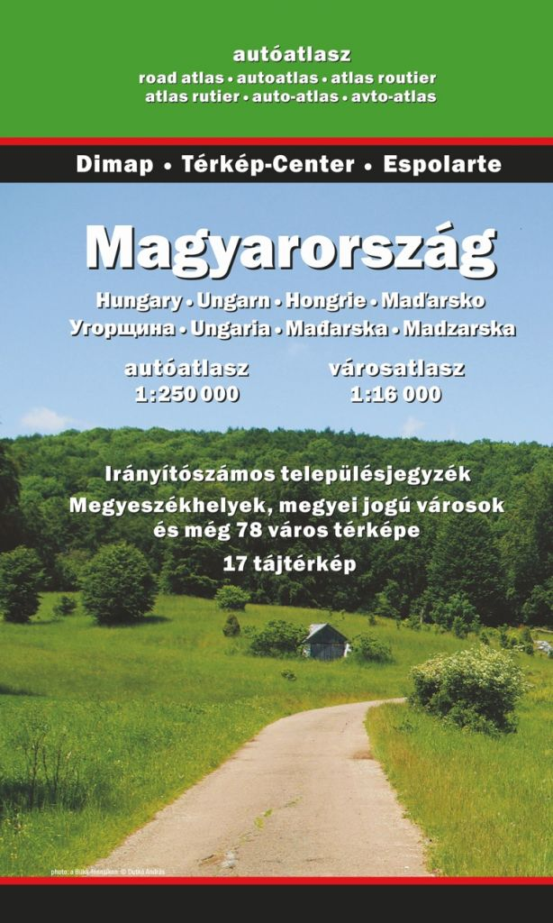Road atlas of Hungary, 17th Edition