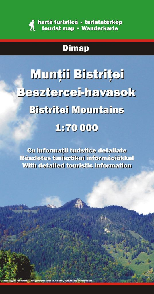 Bistritei Mountains map