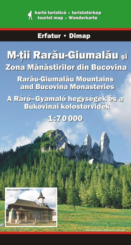 Bucovina Monasteries and Rarau-Giumalau Mountains map