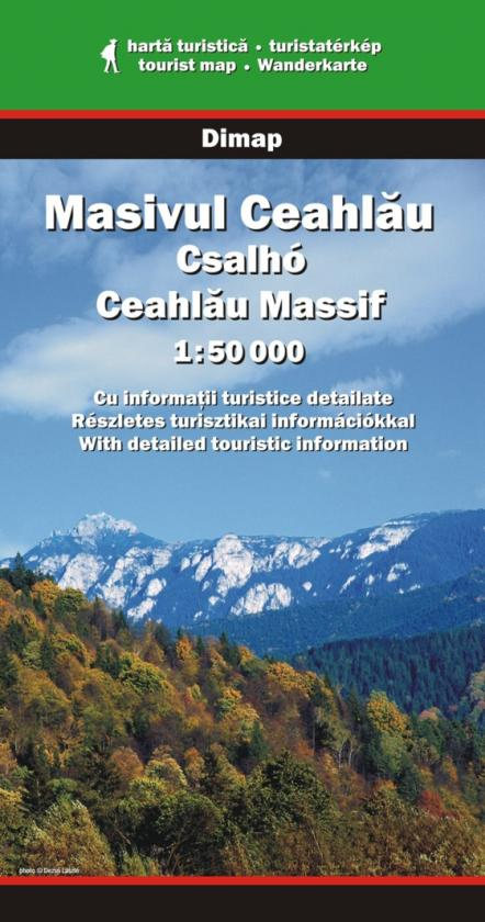 Ceahlau Massif map