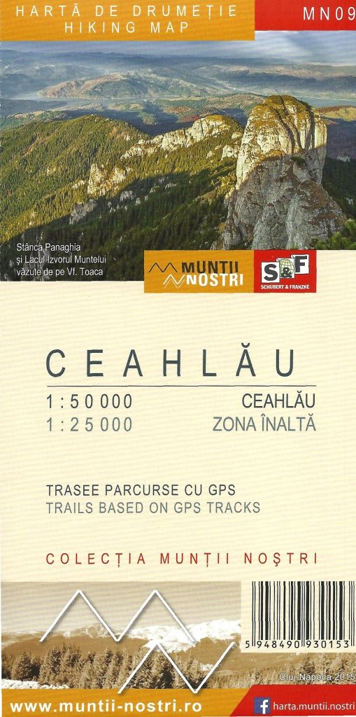 Ceahlau Mountains map