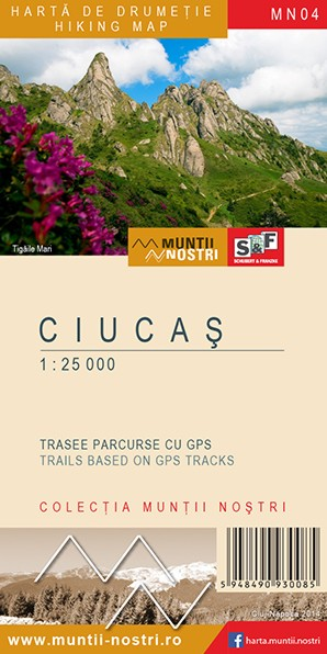 Ciucas Mountains map