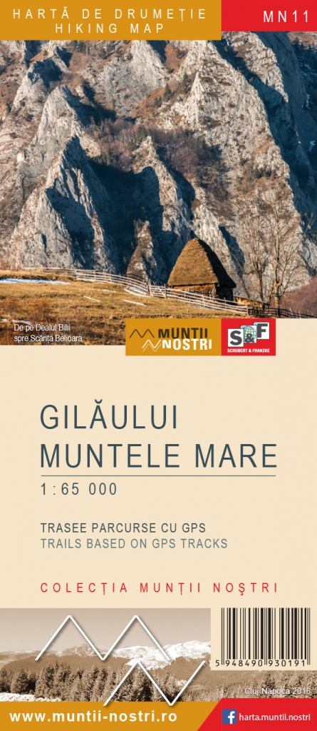 Gilaului and Muntele Mare Mountains map