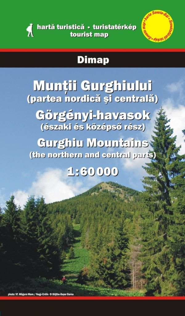 Gurghiu Mountains map (northern and central parts)