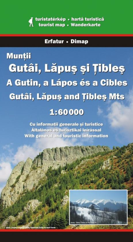 Gutai, Lapus and Tibles Mountains map