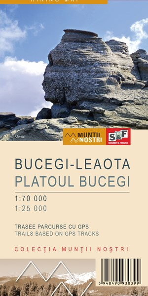 Bucegi–Leaota Mountains map