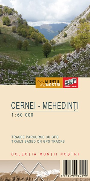 Cerna Valley and the Mehedinti Mountains map