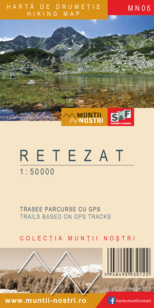 Retezat Mountains map 2