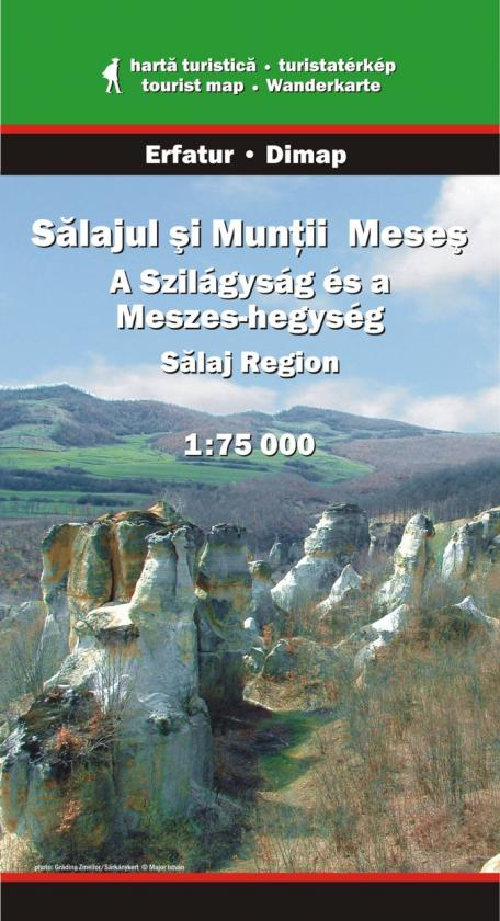 Salaj Region and Meses Mountains map