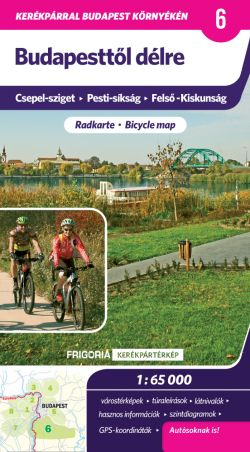 South from Budapest - Bicycle Map