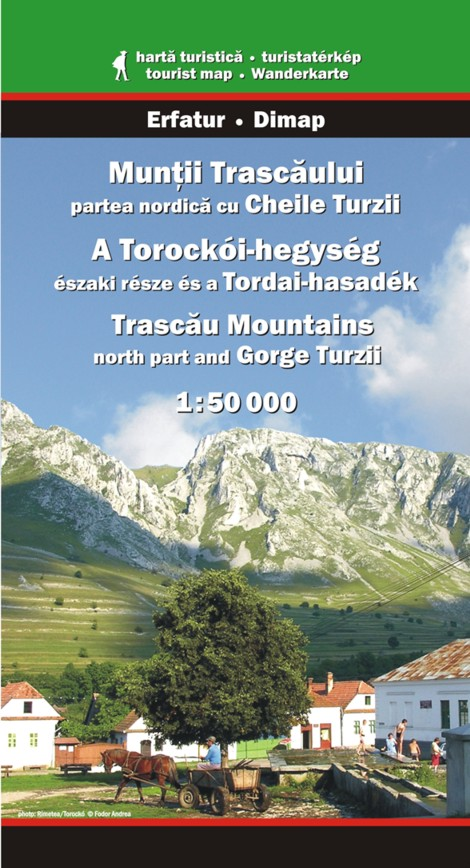 Trascau Mountains (north part) and Gorge Turzii map