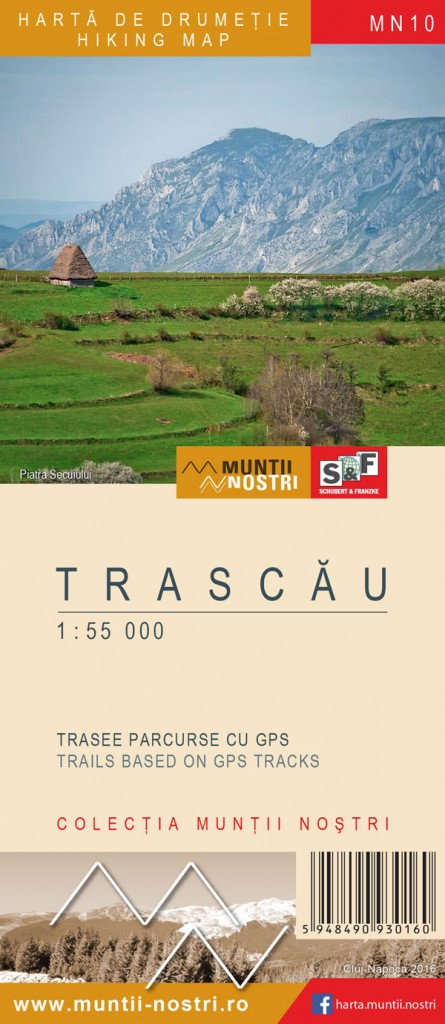 Trascau Mountains map